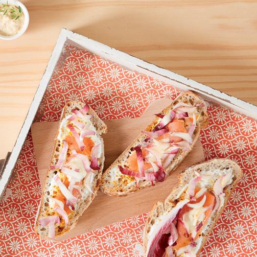 Tartines d'endives et saumon