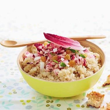 Salade d'Endives, quinoa et raisins secs