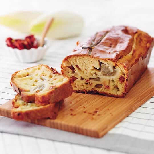 Cake d'endives et mozzarella