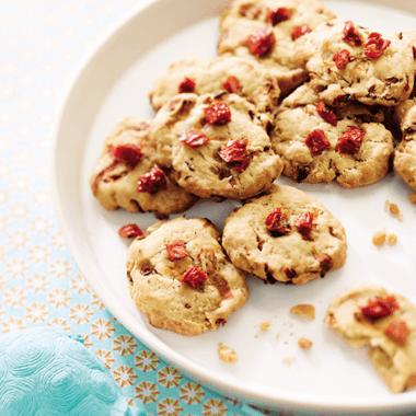 Cookies d'endives et tomates séchées