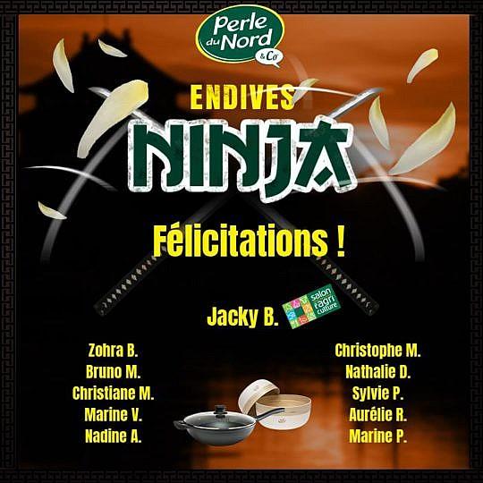 """Les gagnants du jeu concours """"Endives Ninja"""" sont…"""