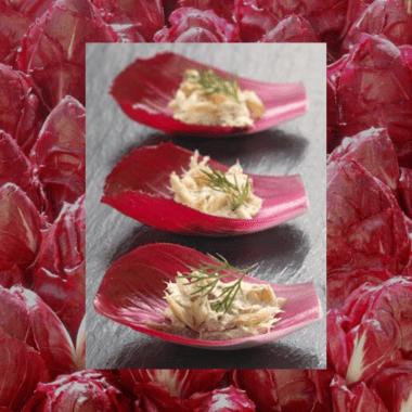 Feuilles de Carmine aux rillettes de maquereau fumé