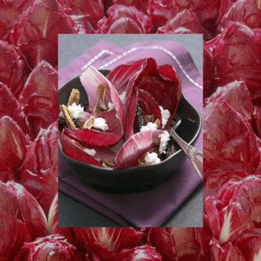 Salade Carmine aux fruits secs et au chèvre