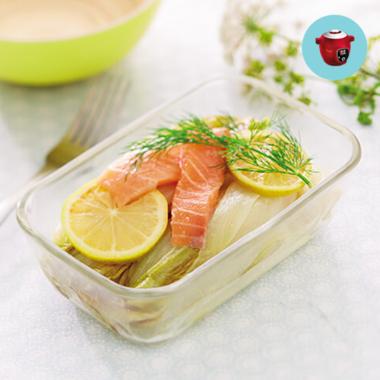 Pavés de saumon et fondue d'endives au cookeo